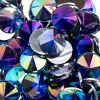 Acrylic Rivoli Flat Back Rhinestones 14mm Royal Blue Aurora Borealis 200pcs/bag